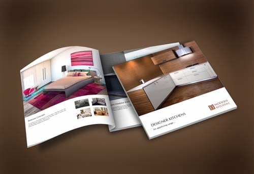 modern interiors brochure design by alter ego communications