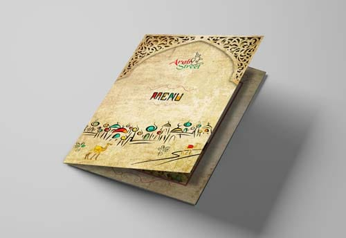 arab street brochure design