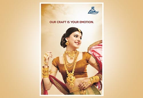 lalitha jewellery print ad portfolio alter ego communications