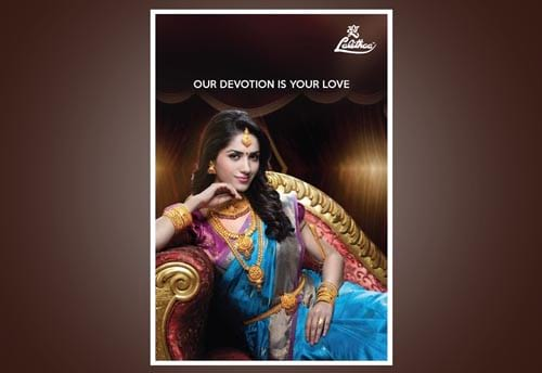 lalitha jewellery print ad by alter ego communications