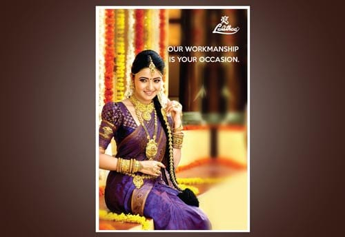 LJM lalithaa jewellery portfolio print ad portfolio by alter ego communications