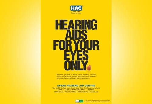 hearing aid centre print ad alter ego communications