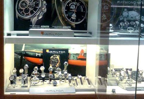 hamilton watch visual merchandising