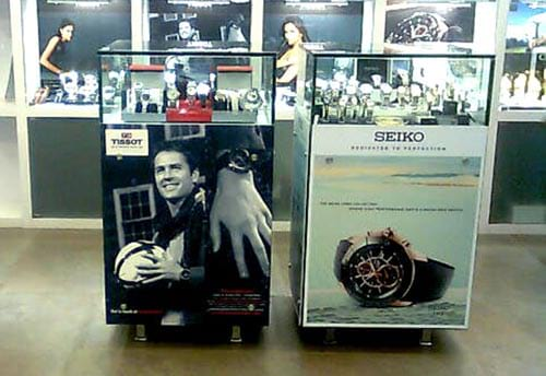 seiko watch visual merchandising