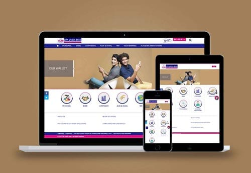 city union bank website design by alter ego communications chennai