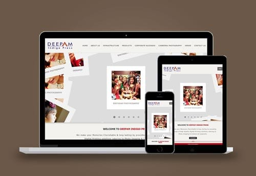 deepam indigo website design by alter ego communications chennai