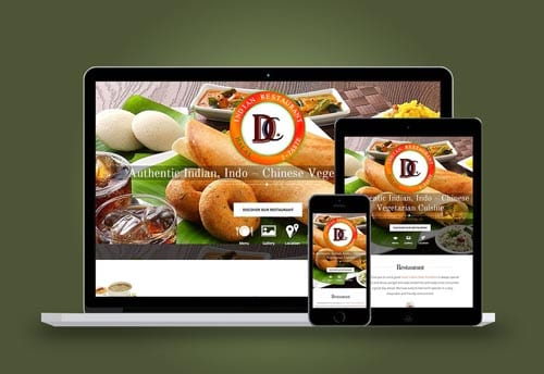 dosa and curry website design by alter ego communications chennai