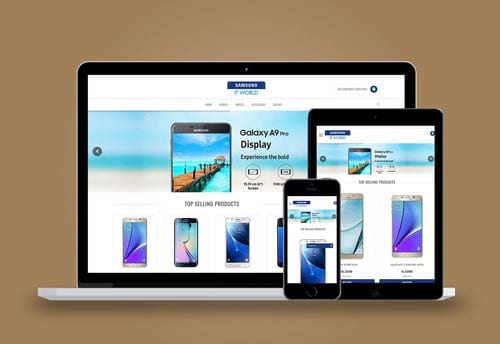 samsung it world website design by alter ego communications