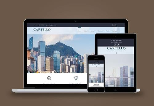 cartelo advisory solutions website design by alter ego communications
