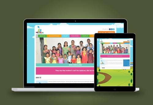 sathana school web design by alter ego communications